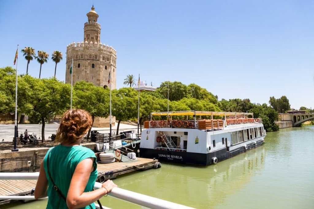 Boat tour with view of torre del oro